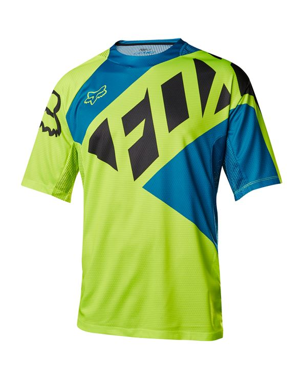 CAMISETA FOX DEMO SECA JERSEY AMARILLO/AZUL